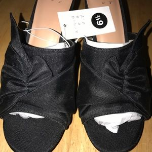 a.n.d a new day Black heels Size 6.5 & 8